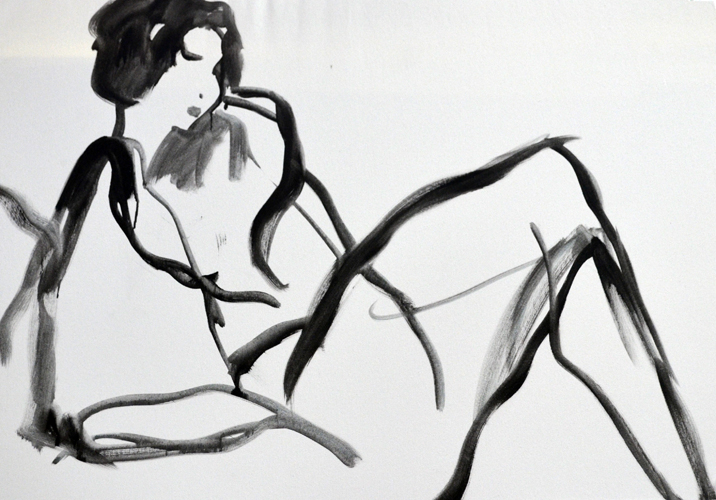 Black and White Nude  1986 40x50