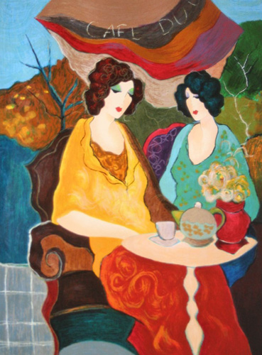 Sunday Afternoon II 2003 AP by Itzchak Tarkay