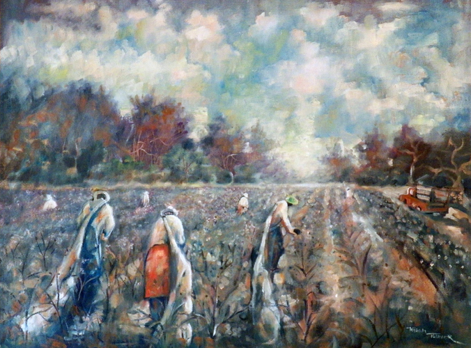 Untitled (Cotton Pickers in Field)