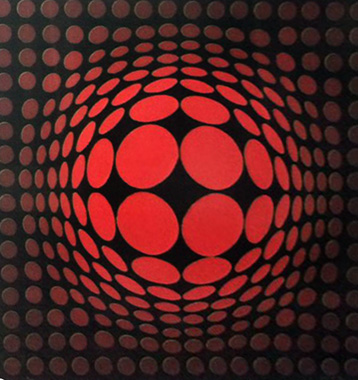 Sinlag Cast Paper Print,  Collaboration With Frank Gallo 1990  by Victor Vasarely