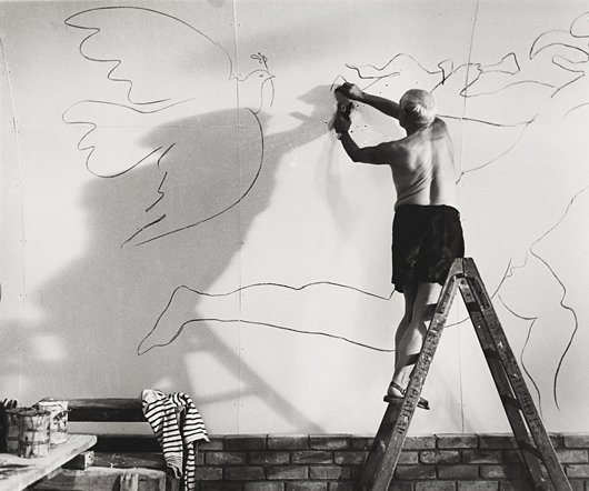 Picasso Working on the Fresco For the Film By Luciano Emmer, CA III 1953