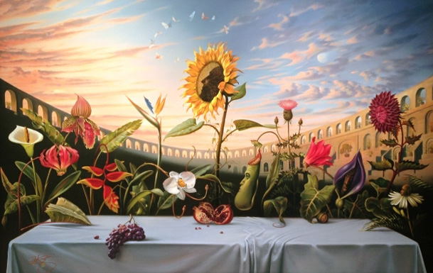Last Supper 2012 37x53 by Vladimir Kush