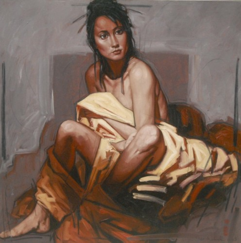 Seated Woman in Yellow Cloth 2008