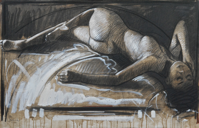 Reclining Nude 2008 by Nico Vrielink