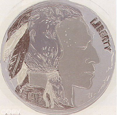 Indian Head Nickel, From: Cowboys and Indians  Il.385 1986