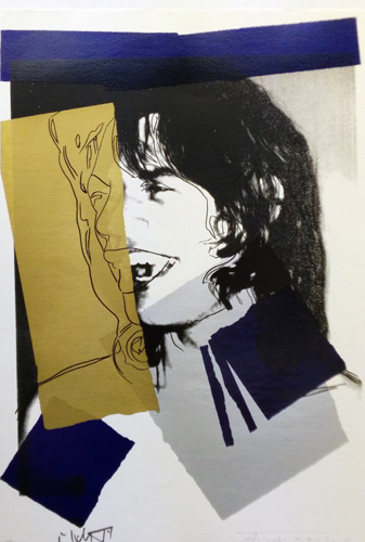 Mick Jagger FS II.142 1975 by Andy Warhol