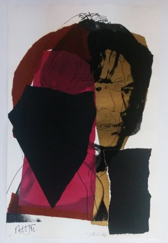 Mick Jagger FS II.139 1975 by Andy Warhol