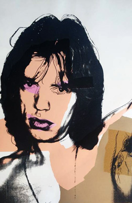 Mick Jagger FS II.141 1975 by Andy Warhol