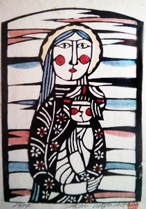 Madonna And Child, 1984 by Sadao Watanabe