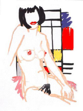 Monica With Mondrian