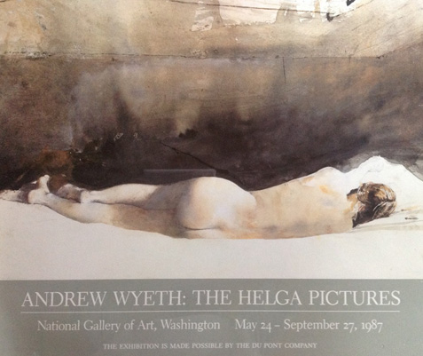 The Helga Pictures, National  Gallery of Art 1987 Poster by Andrew Wyeth