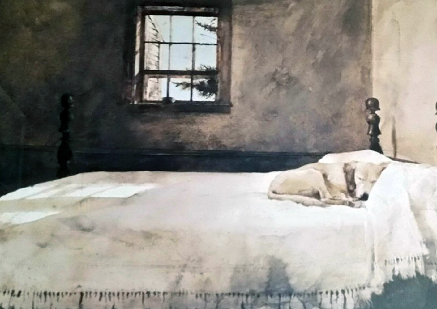 andrew wyeth master bedroom hs limited edition print lithograph size
