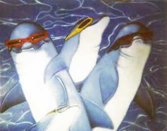 Untitled Sea Creatures in Shades (Penguins) 1980