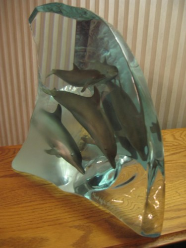 Dolphin Tribe Acrylic Sculpture AP 1998