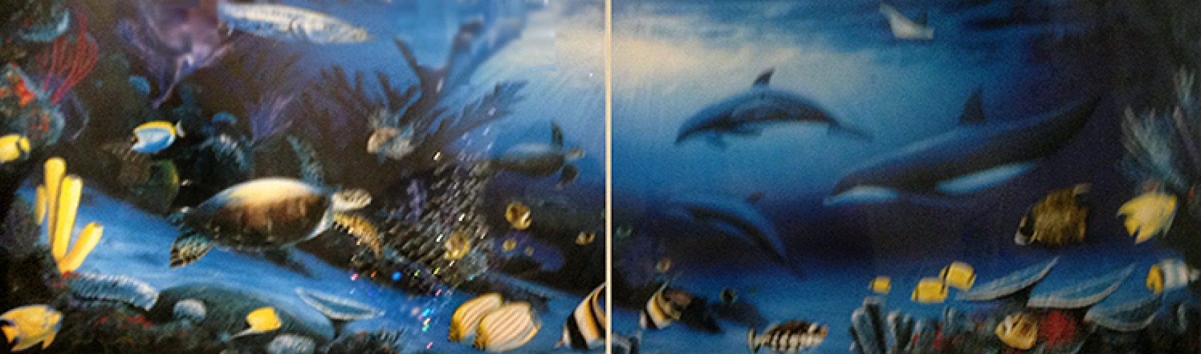 Dolphin And Baby Diptych 1994
