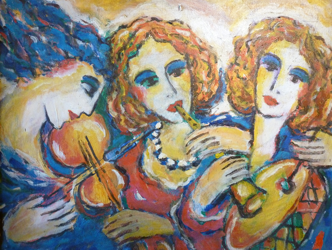 Three Lady Musicians