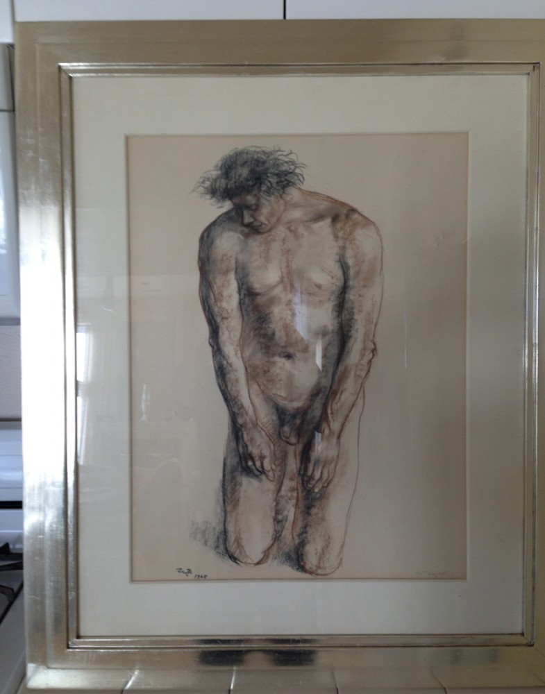 Nude Male Drawing 1965