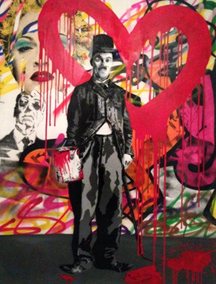 Charlie chaplin icons 2010 by mr brainwash for Mural painted by street artist mr brainwash