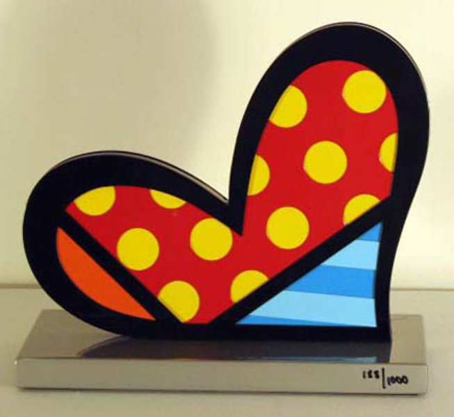 romero britto art. Romero Britto - Heart