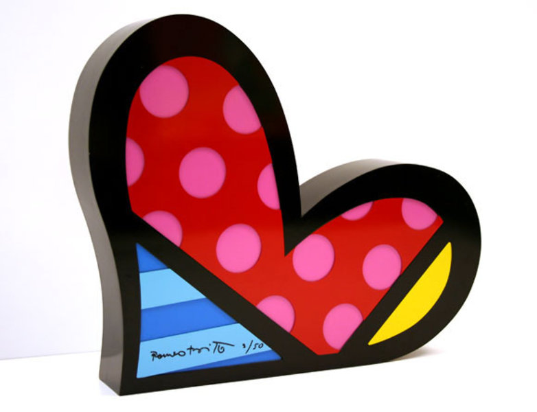 Romero Britto Art  Romero Britto   For You Heart