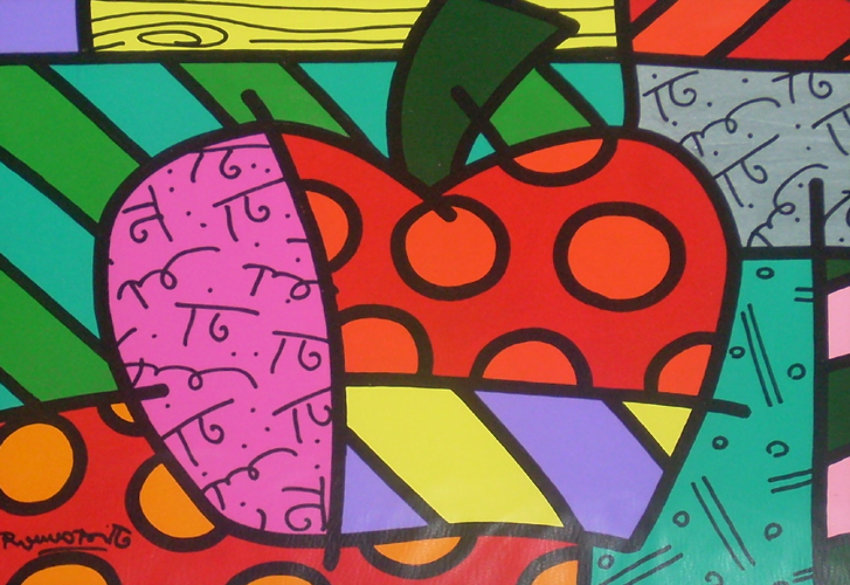 Romero Britto - Apple Apple (New York)