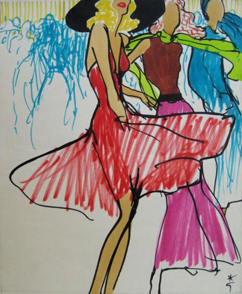 Rene Gruau - Dancing Girls