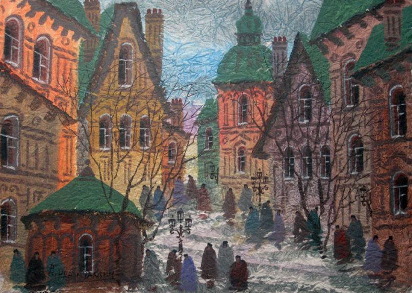 anatole krasnyansky street of old prague poster