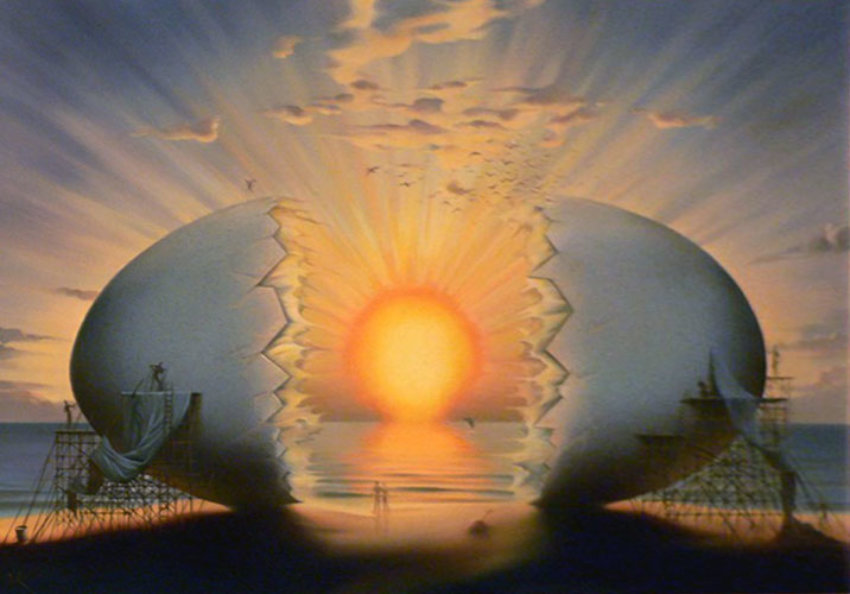 Vladimir Kush - Sunset by the Beach